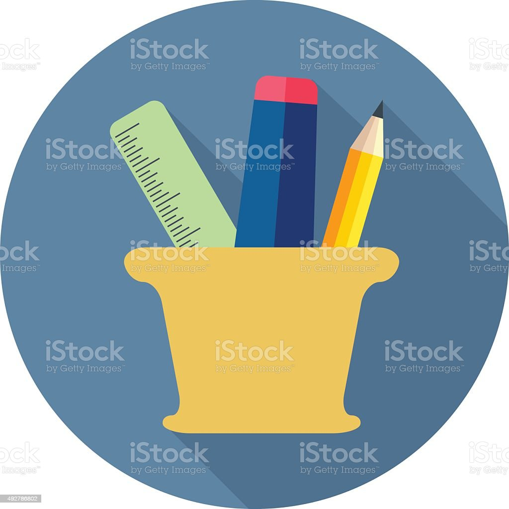 Stationery vector art illustration