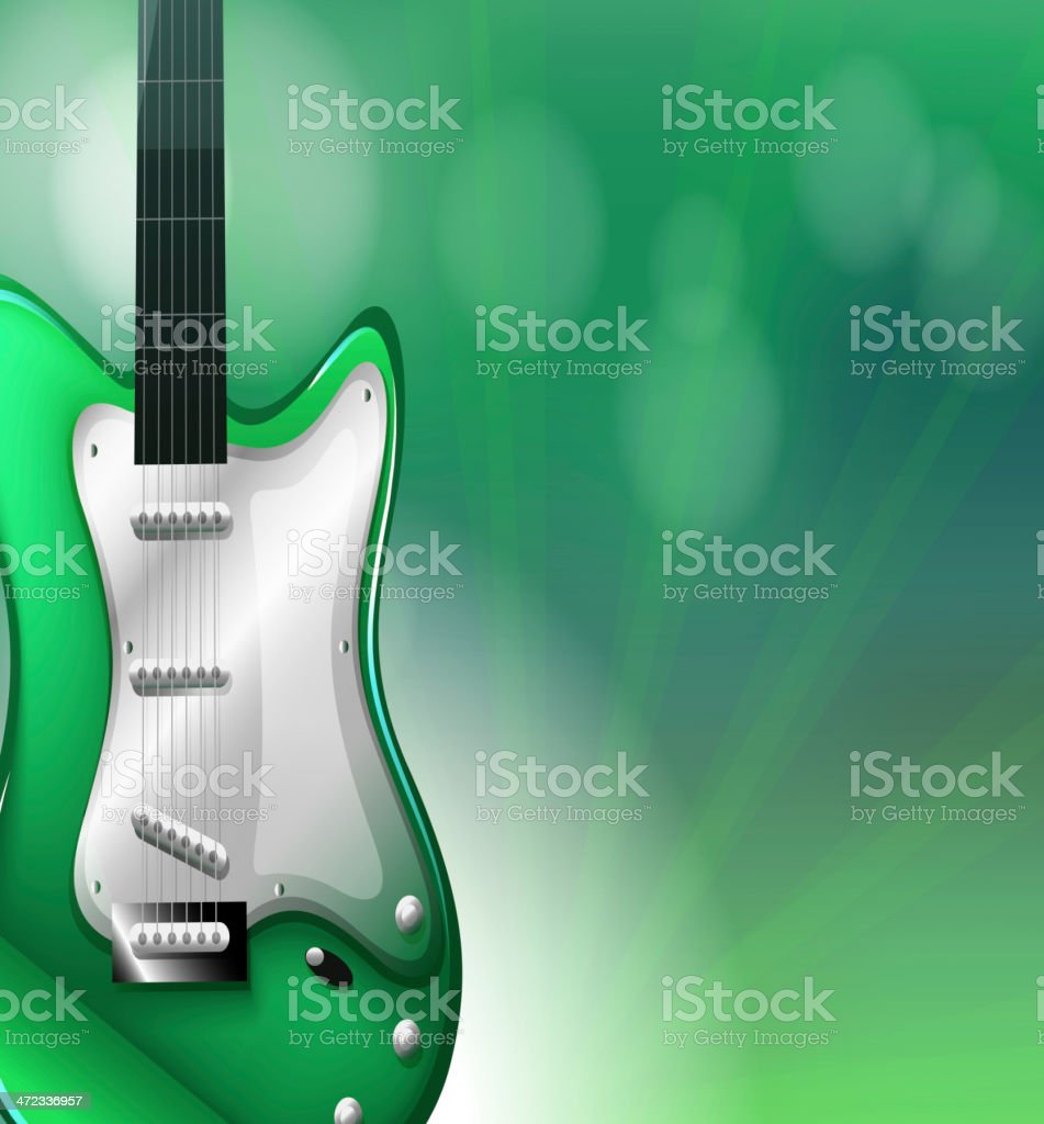 Stationery with a guitar royalty-free stock vector art