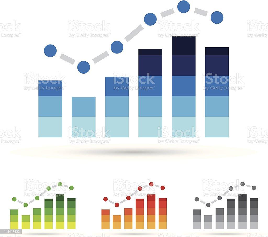 Icônes de statistiques stock vecteur libres de droits libre de droits