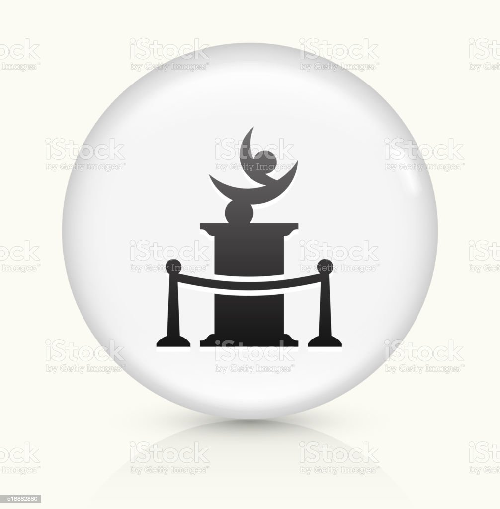 Statue icon on white round vector button vector art illustration