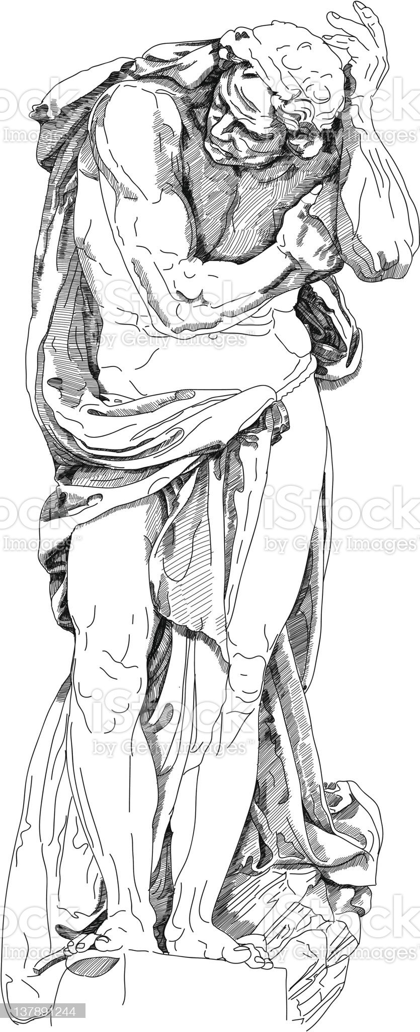 Statue of a man royalty-free stock vector art