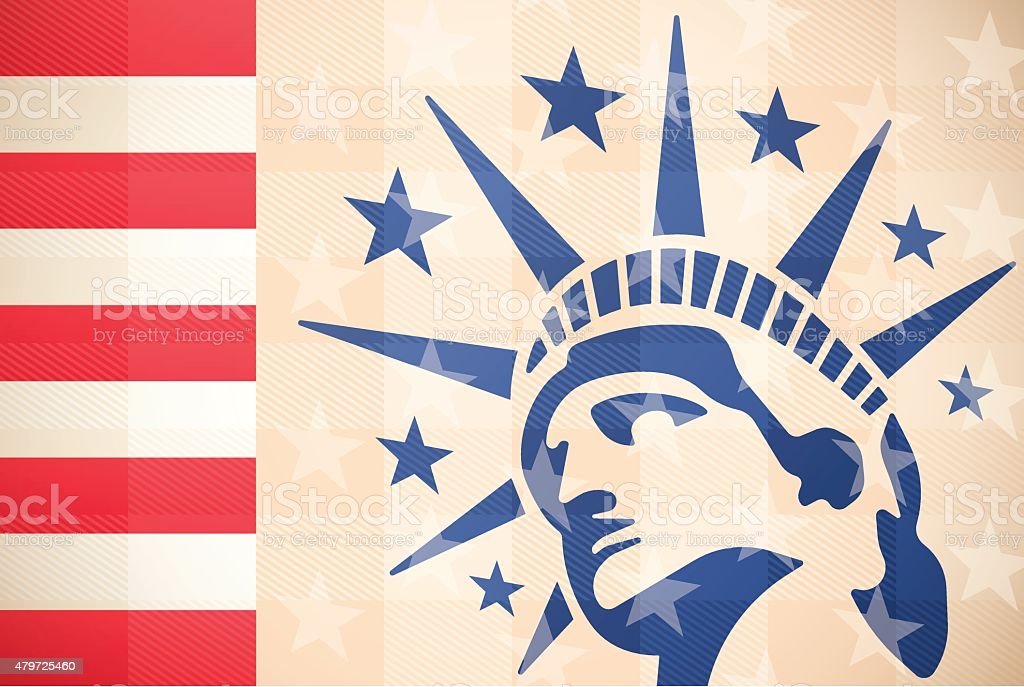 Statue of Liberty Background vector art illustration