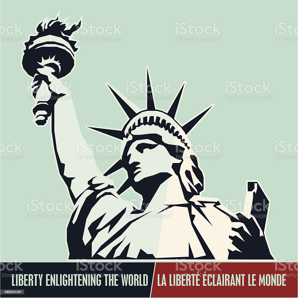 Statue of Liberty. USA vector art illustration