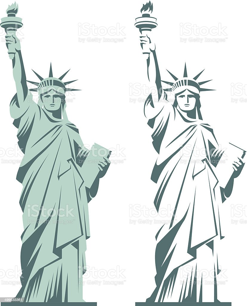 Statue of Liberty vector art illustration