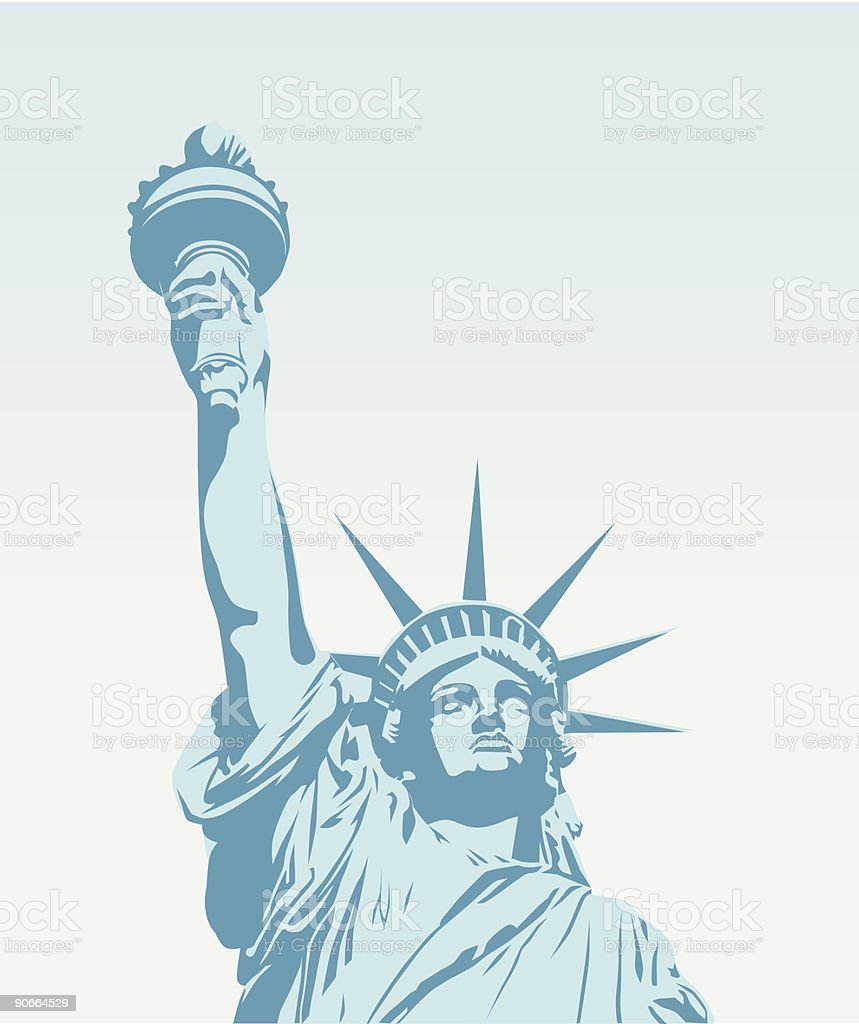 Statue of Liberty - Vector vector art illustration