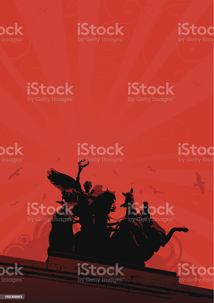 statue on a red background royalty-free stock vector art