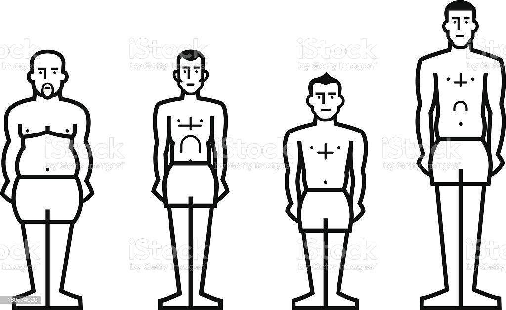 stature man vector art illustration