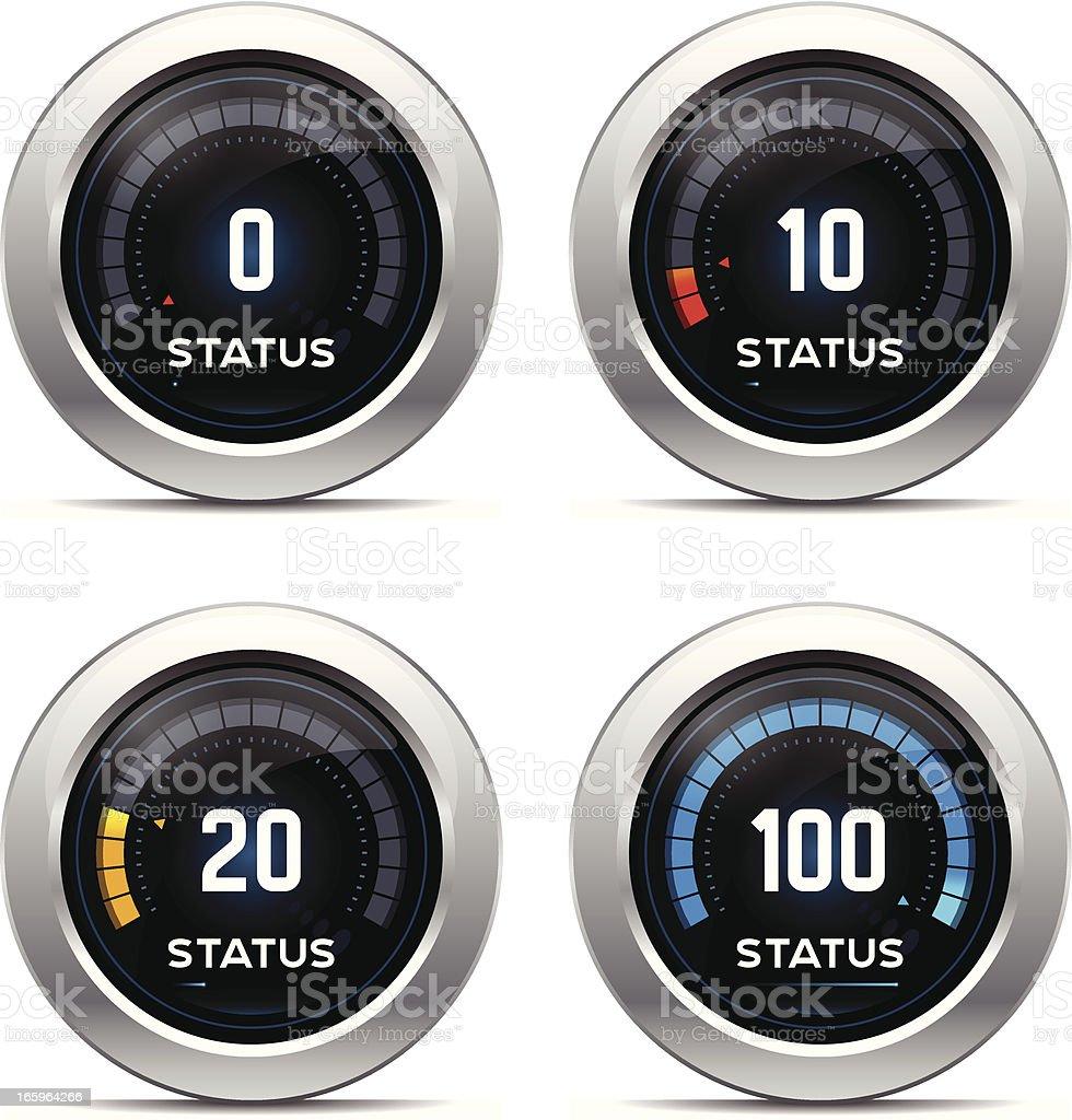 Status Dashboard - Numerical royalty-free stock vector art