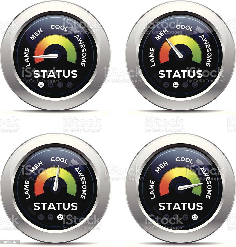 Status Dashboard - Slang royalty-free stock vector art