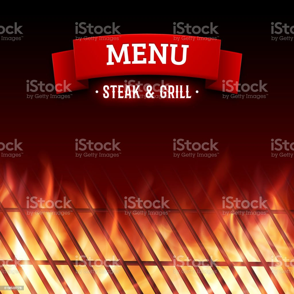 Steak and grill house menu. Vector background vector art illustration