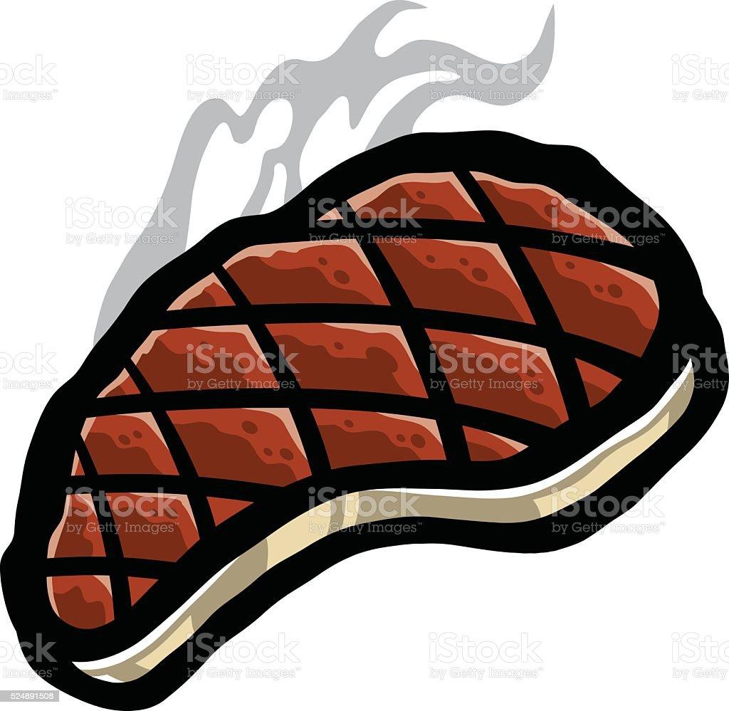 Steak BBQ vector art illustration