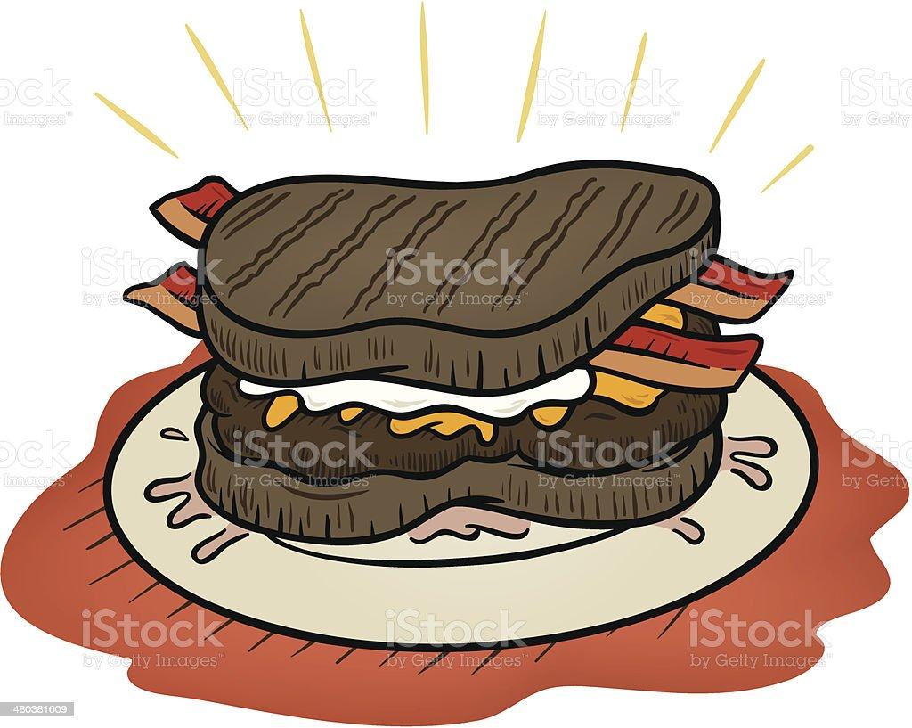 Steak Burger royalty-free stock vector art
