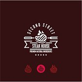 steak house logo, steak icon