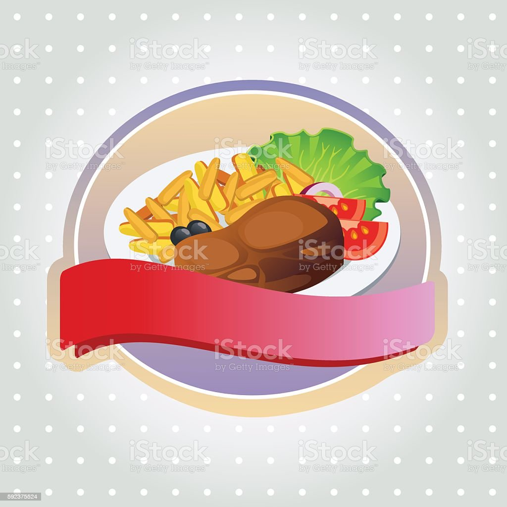 steak label vector art illustration