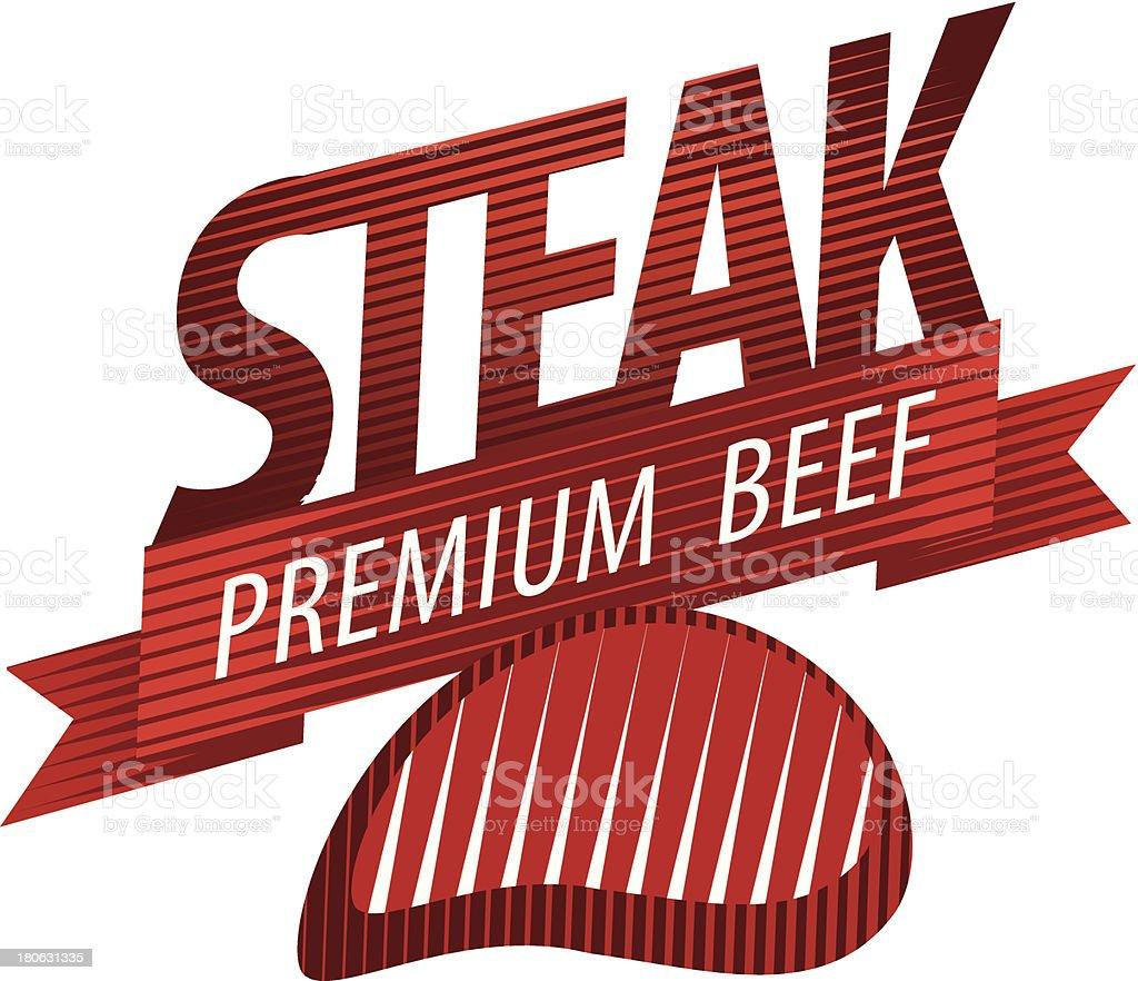 steak sign royalty-free stock vector art