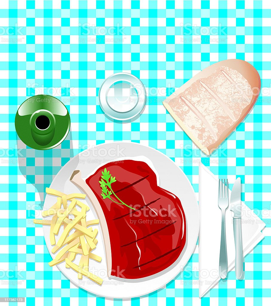 steak vector art illustration