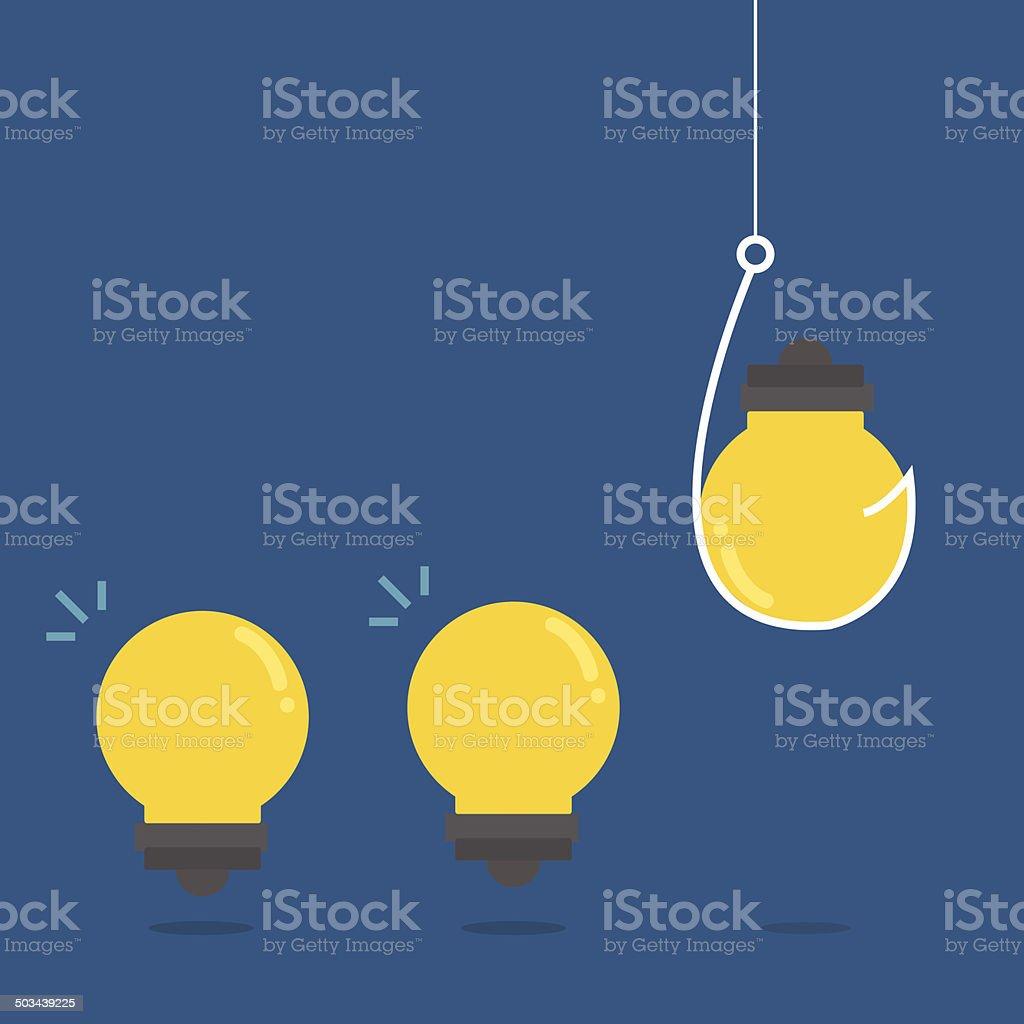 stealing idea,vector,illustration. royalty-free stock vector art