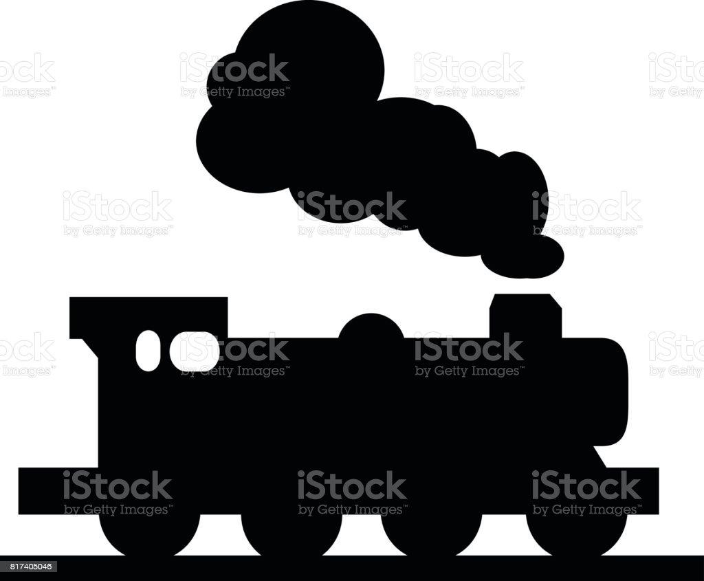 Steam Locomotive Single Vector Illustration vector art illustration
