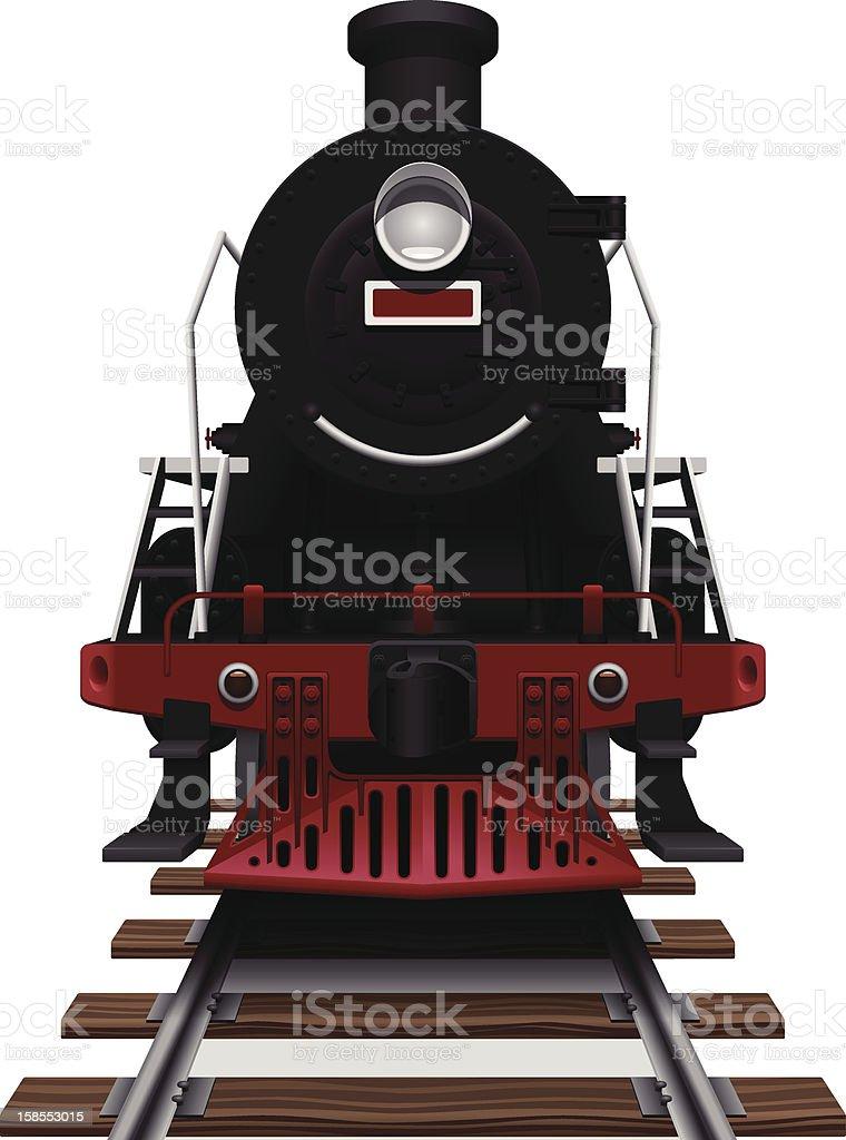 Steam Locomotive royalty-free stock vector art