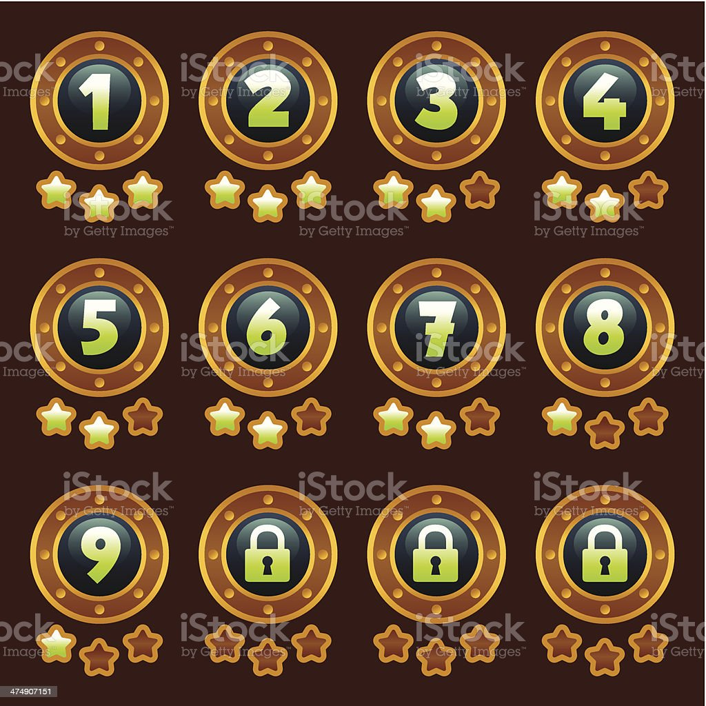 Steam punk level selection royalty-free stock vector art