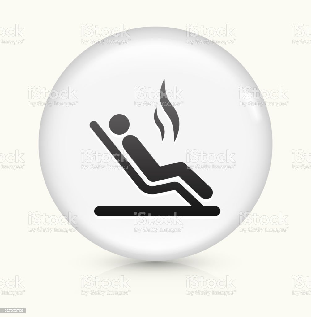 Steam Room icon on white round vector button vector art illustration