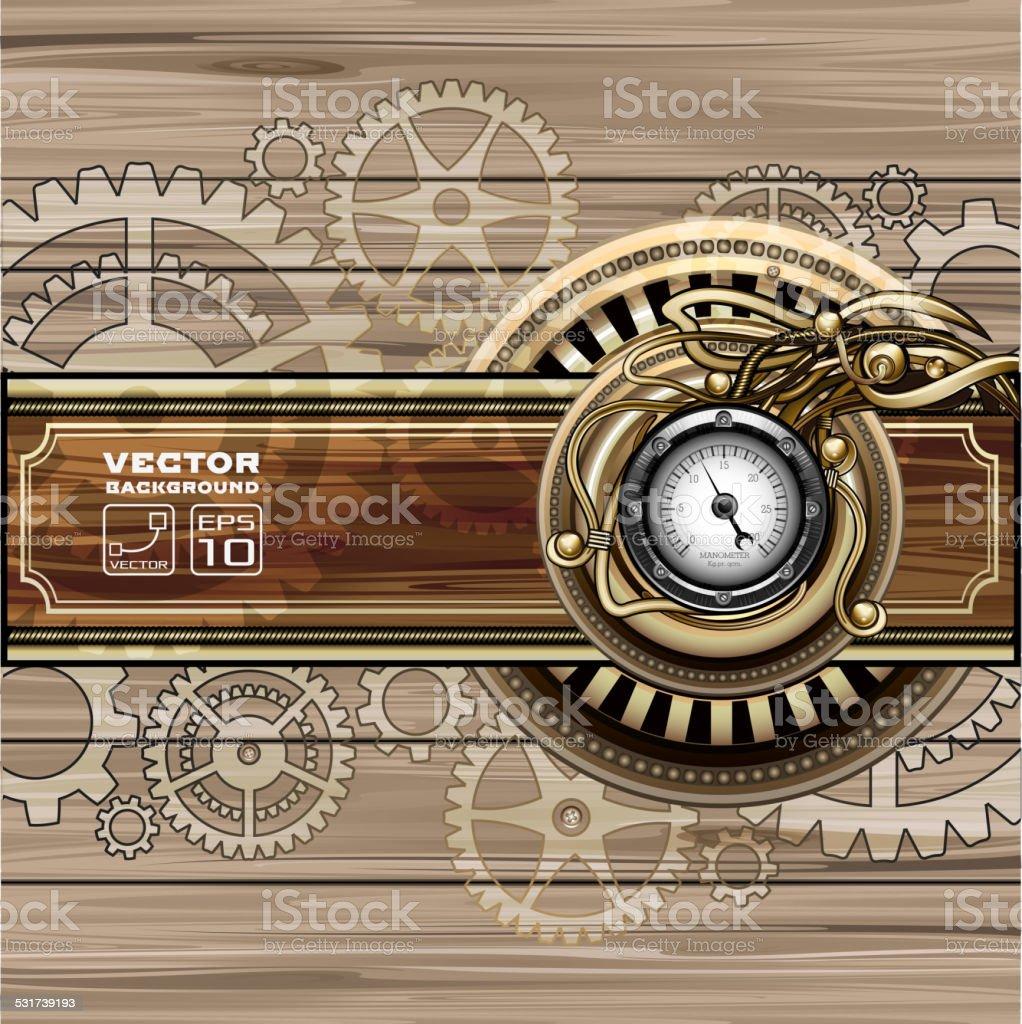 Steampunk background vector art illustration