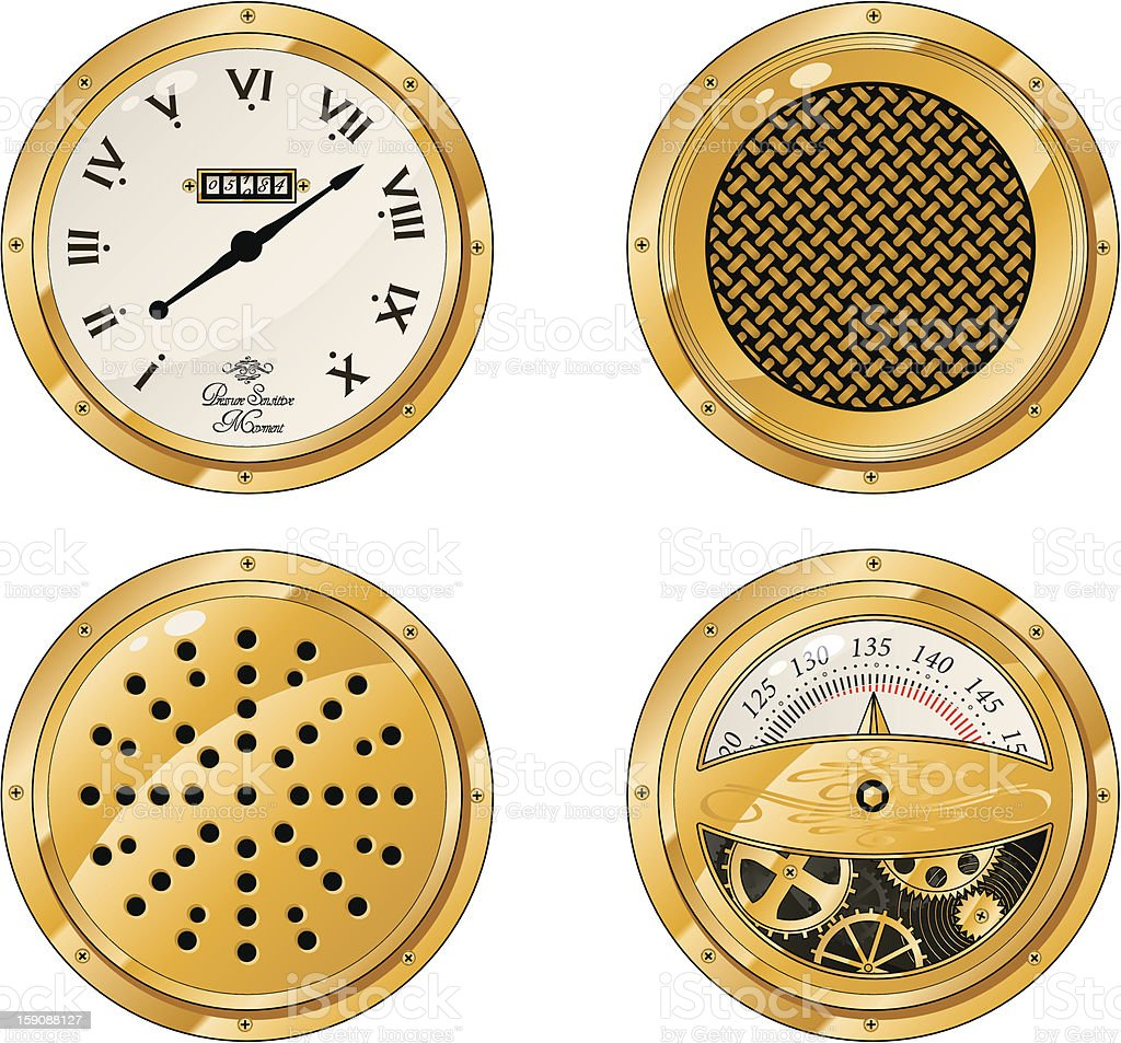 steampunk dials royalty-free stock vector art