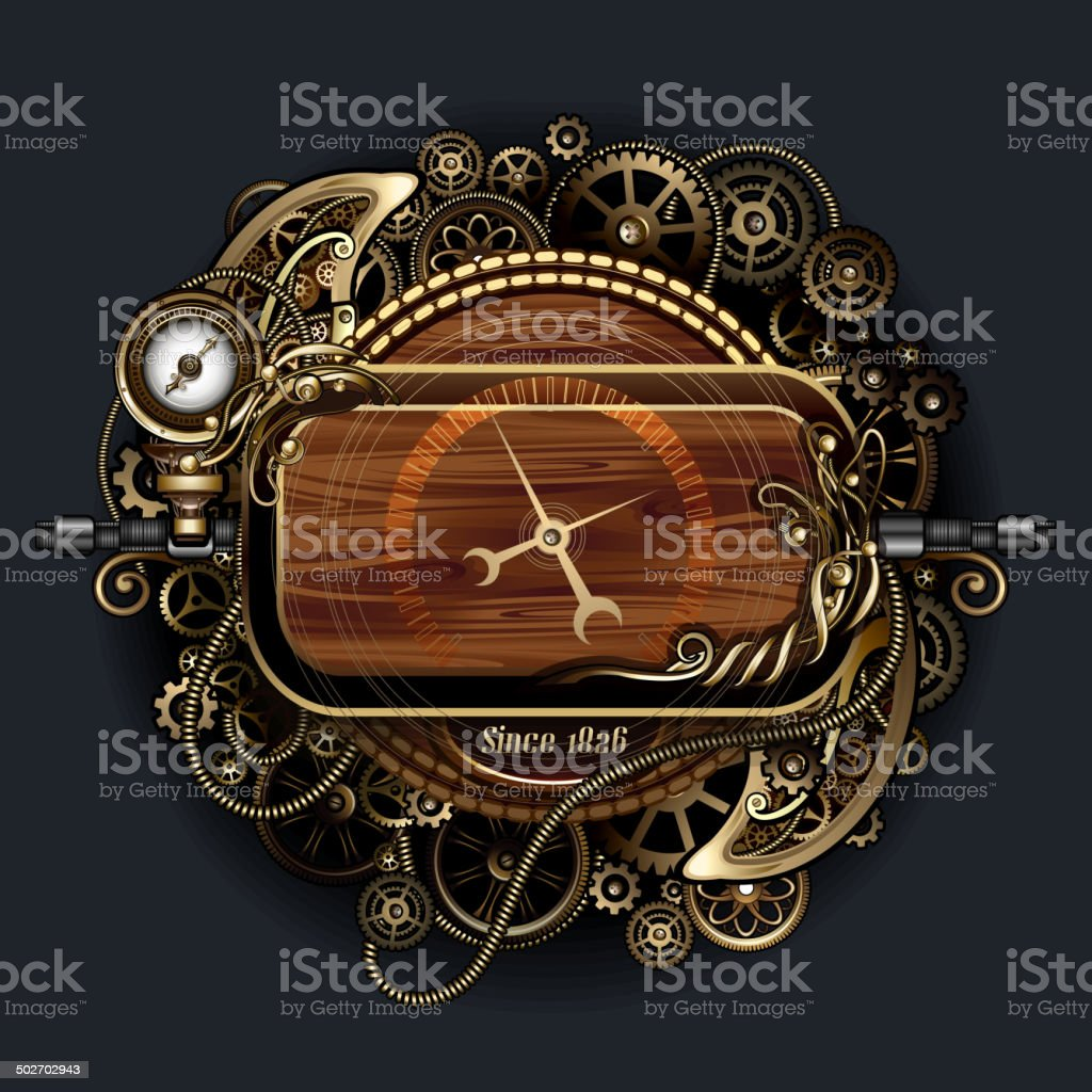 Futuristic Clock Steampunk Futuristic Clock Stock Vector Art 502702943 Istock