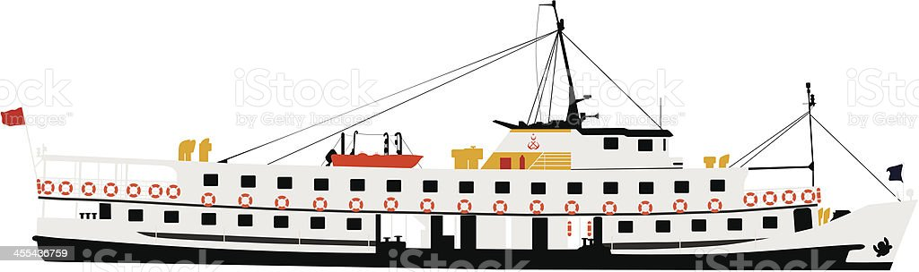 steamship royalty-free stock vector art