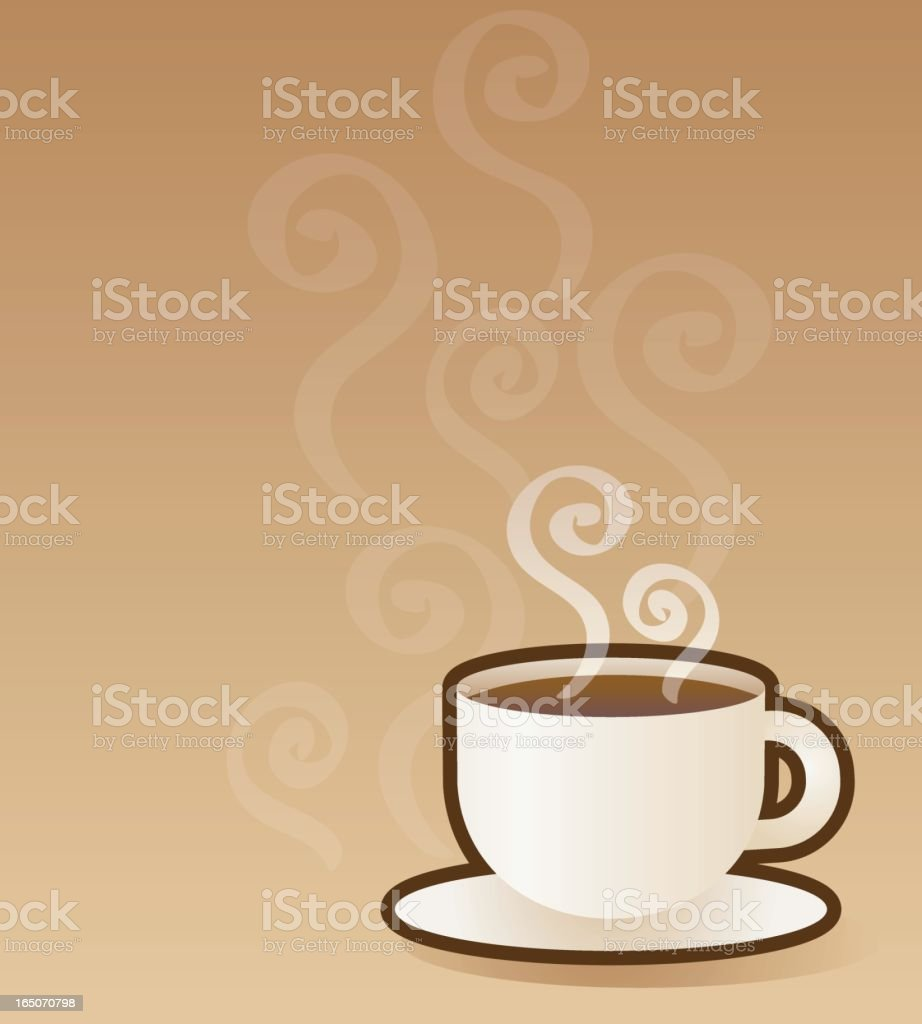steamy coffee cup royalty-free stock vector art