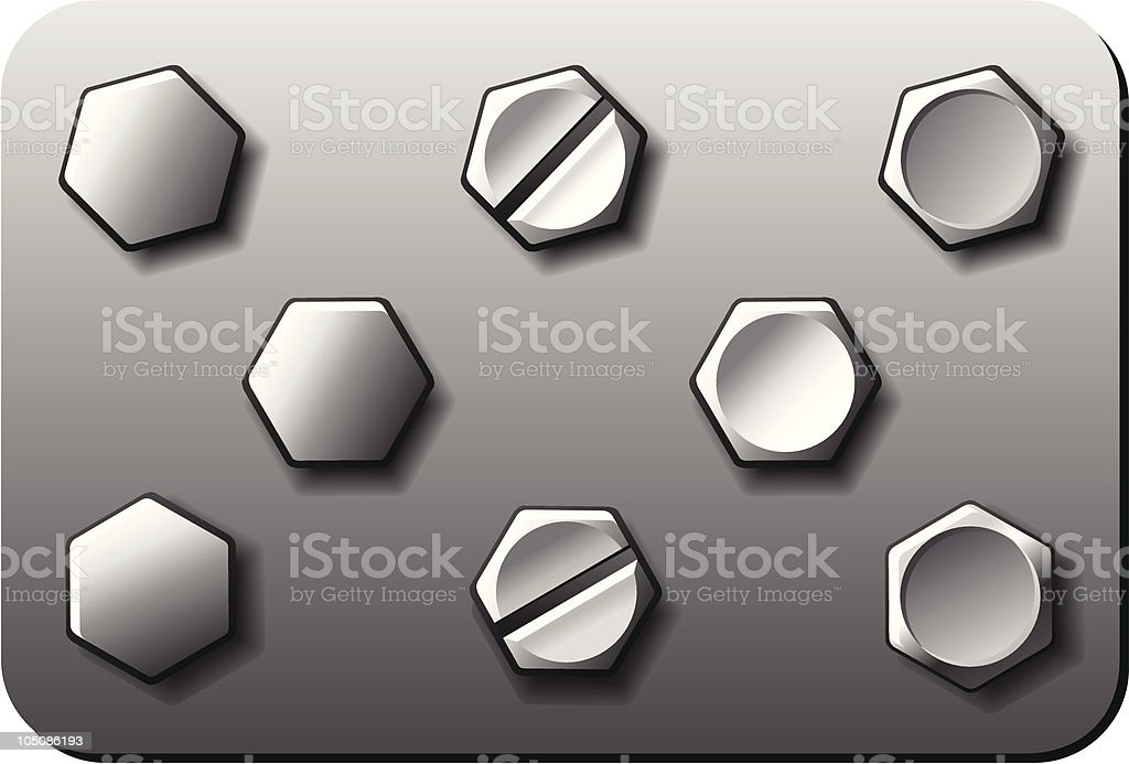 Steel Bolt Screw royalty-free stock vector art