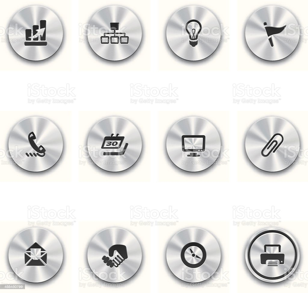Steel Business Buttons royalty-free stock vector art