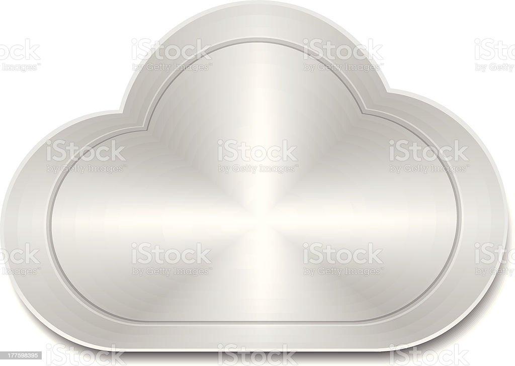Steel cloud icon royalty-free stock vector art