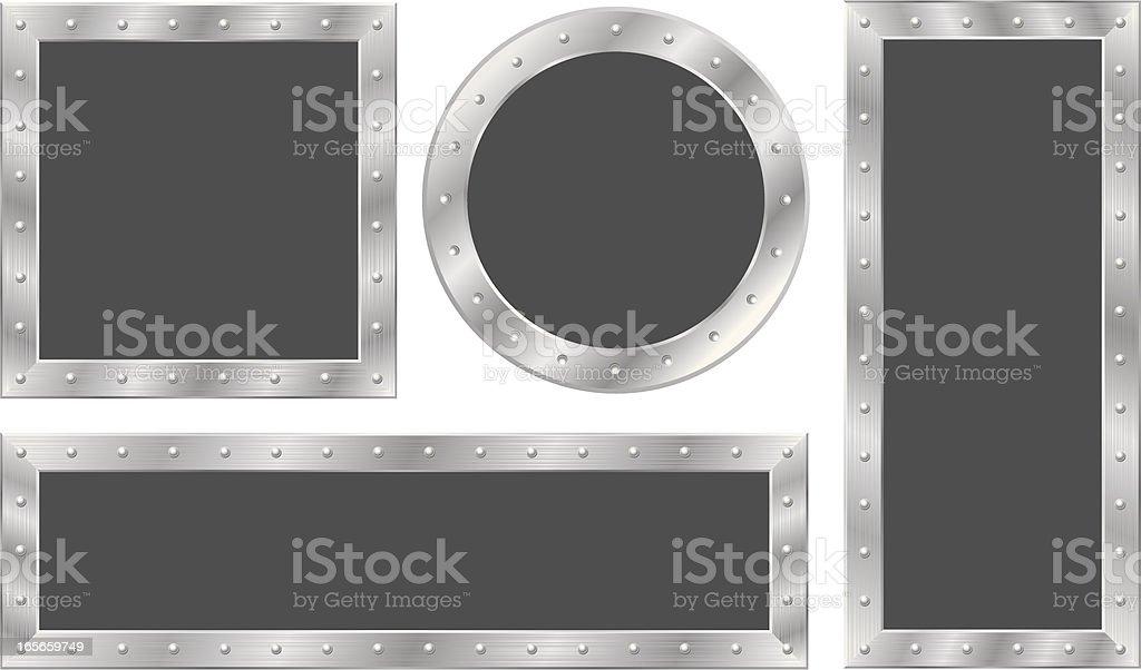 Steel Frames vector art illustration