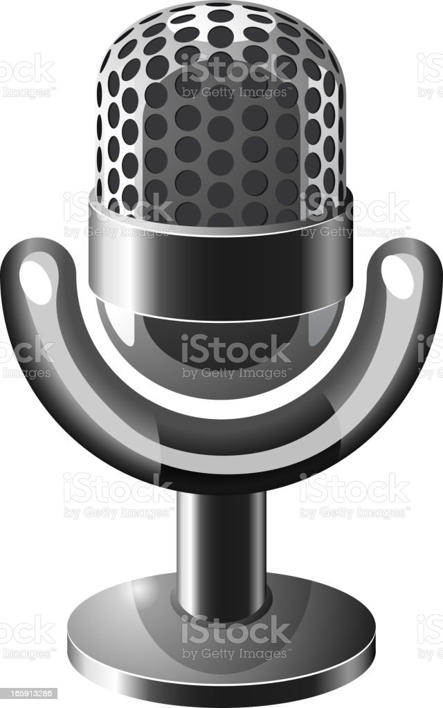 Steel microphone royalty-free stock vector art