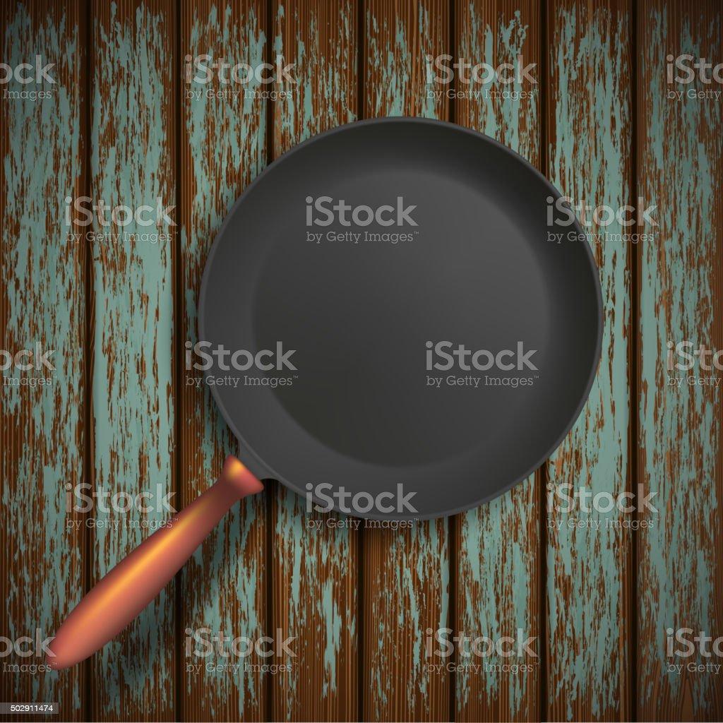 Steel pan. Stock illustration. vector art illustration