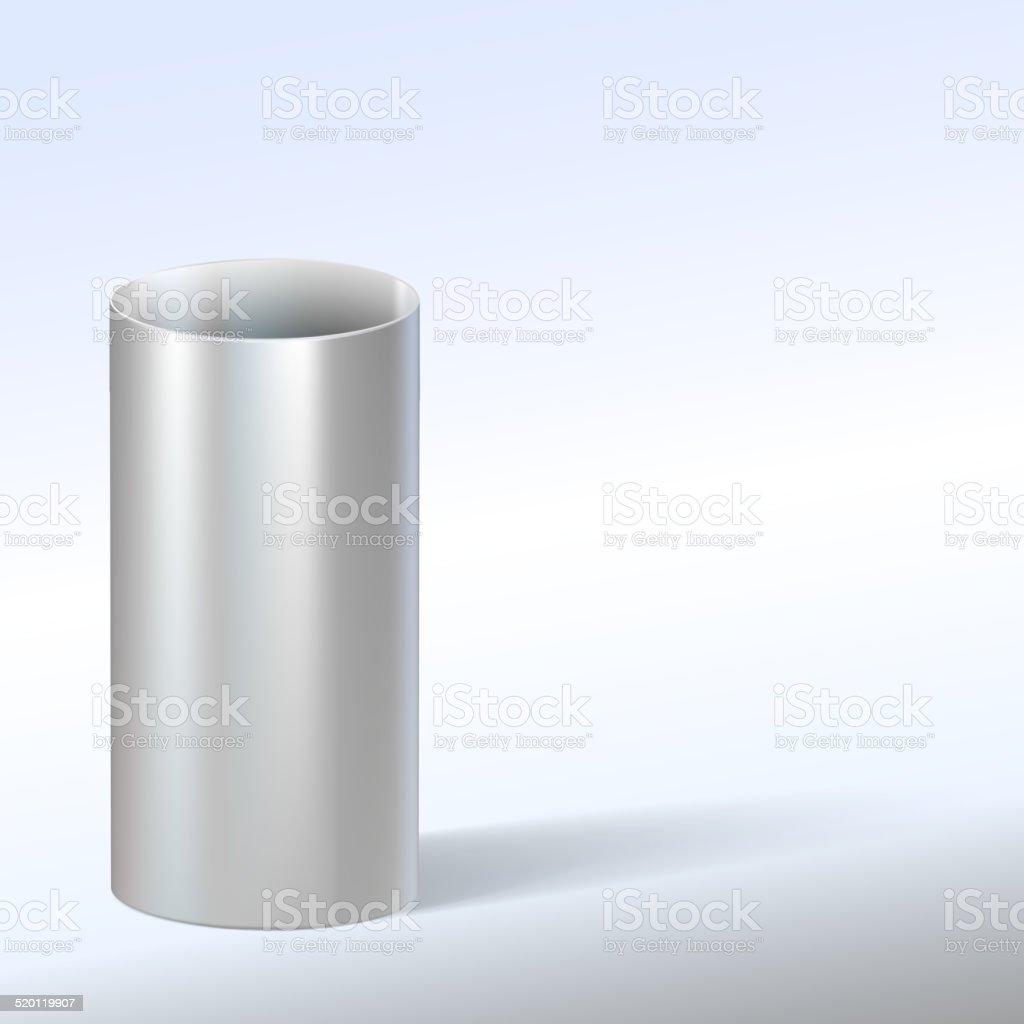 Steel pipe, vector illustration. vector art illustration