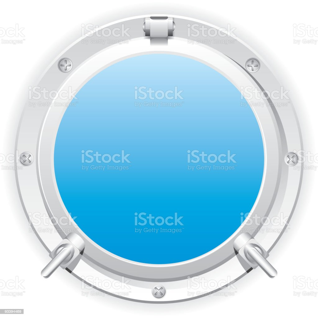 steel porthole royalty-free stock vector art