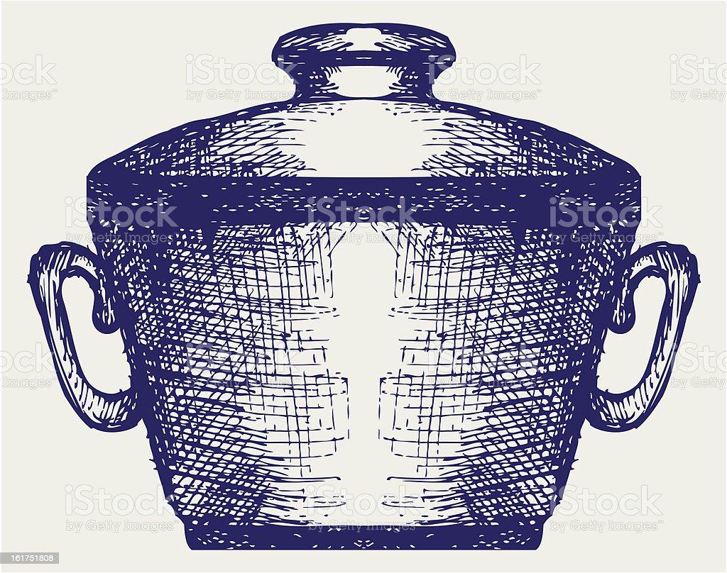 Steel pot royalty-free stock vector art