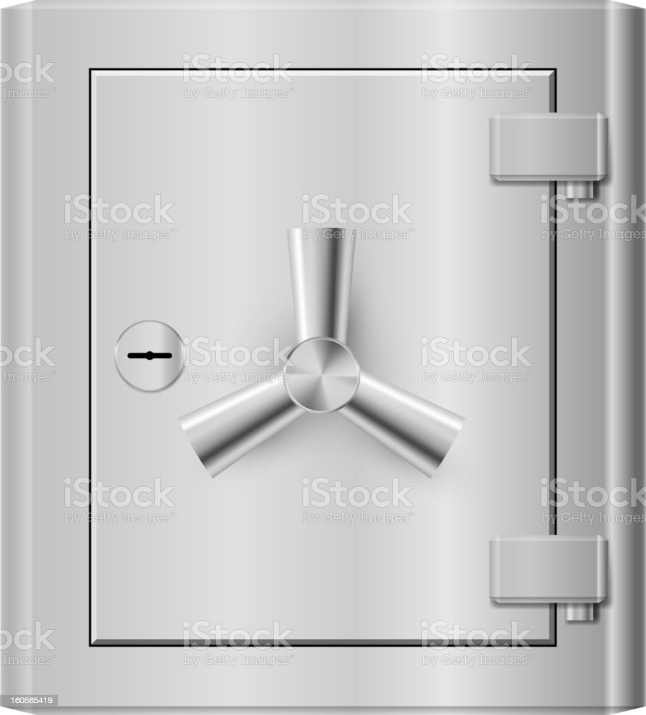 Steel safe royalty-free stock vector art