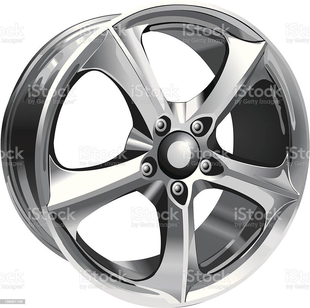 Steel Wheel royalty-free stock vector art