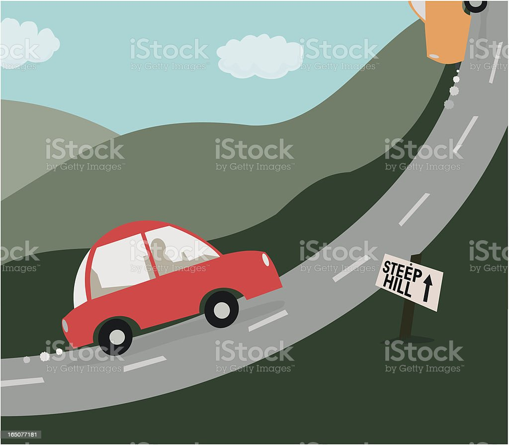 Steep Hill vector art illustration