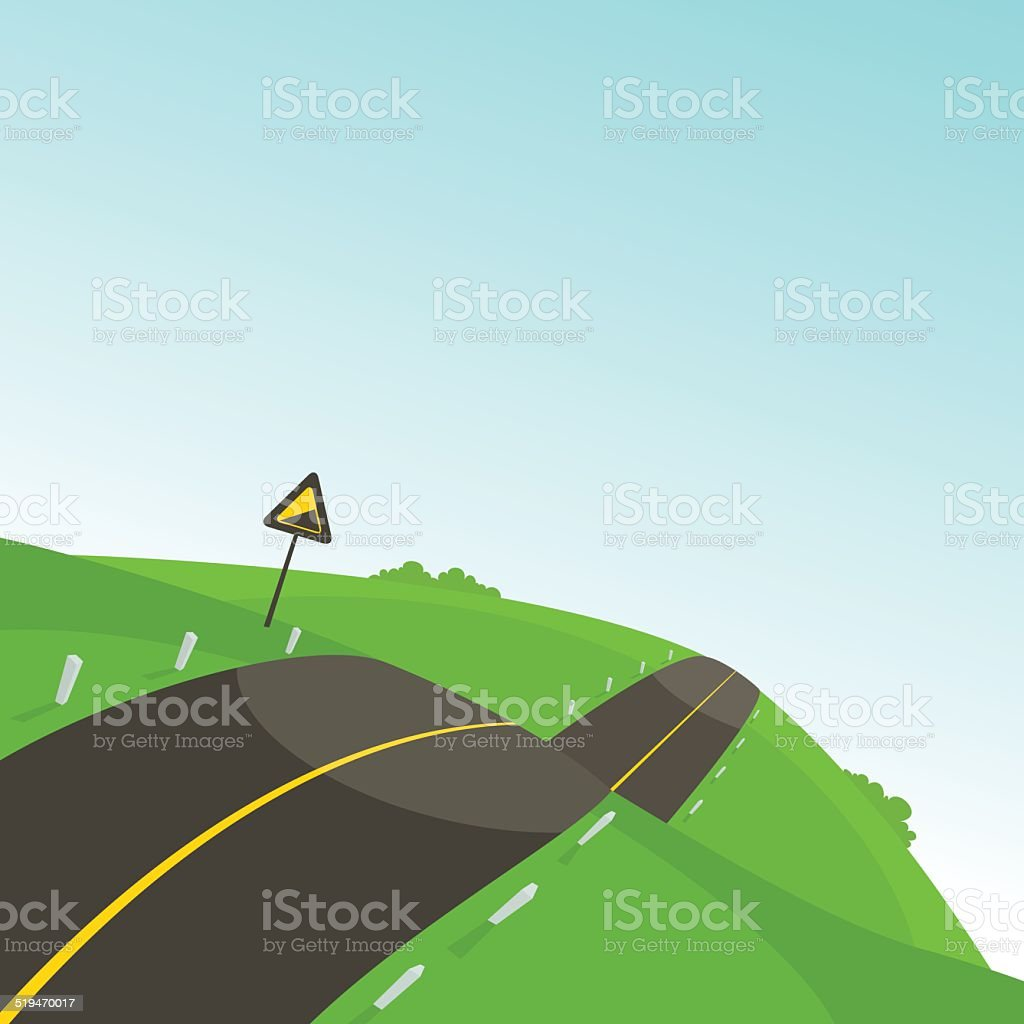Steep Road vector art illustration