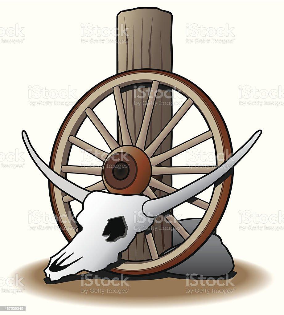 Steer Skull vector art illustration