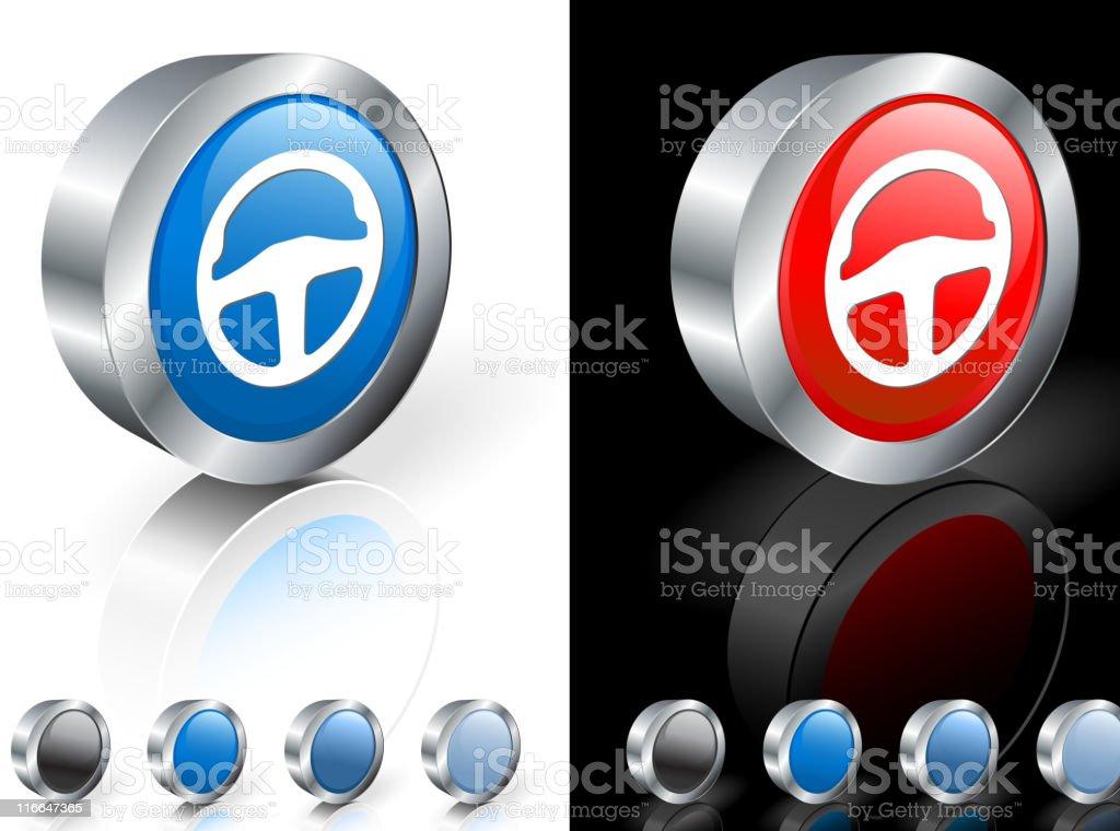 steering wheel 3D royalty free vector art royalty-free stock vector art