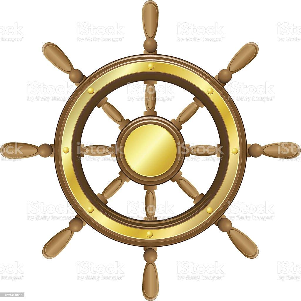 steering wheel for ship vector illustration isolated on white background vector art illustration