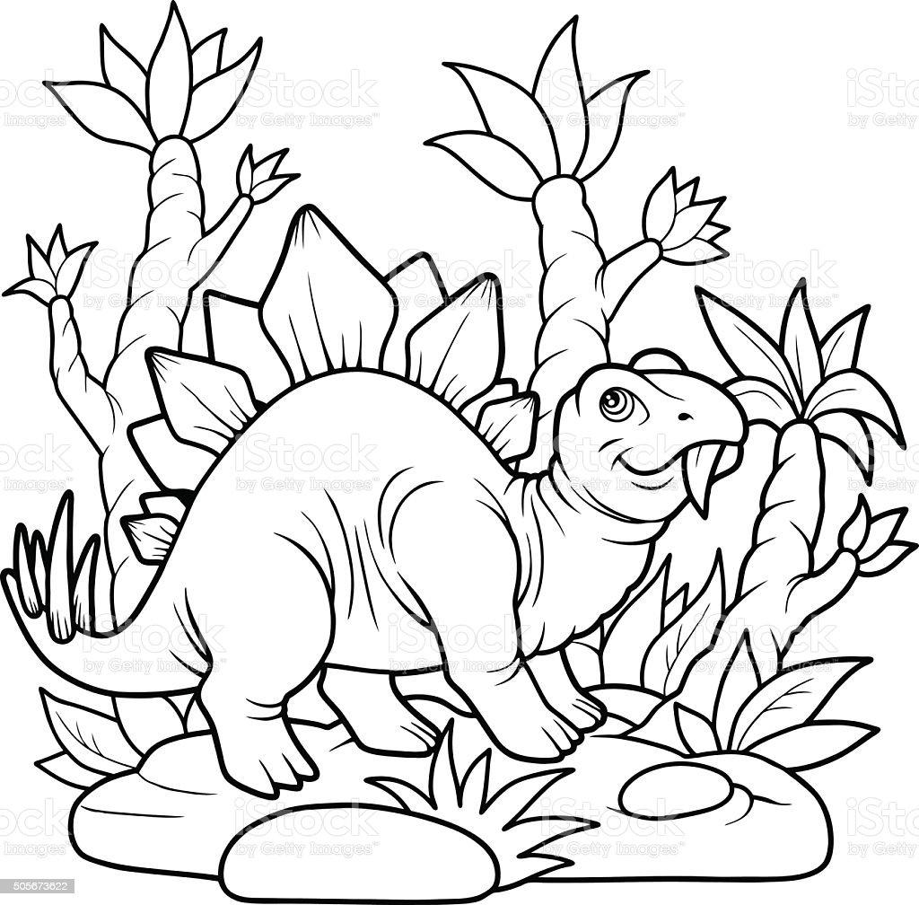 stegosaurus vector art illustration