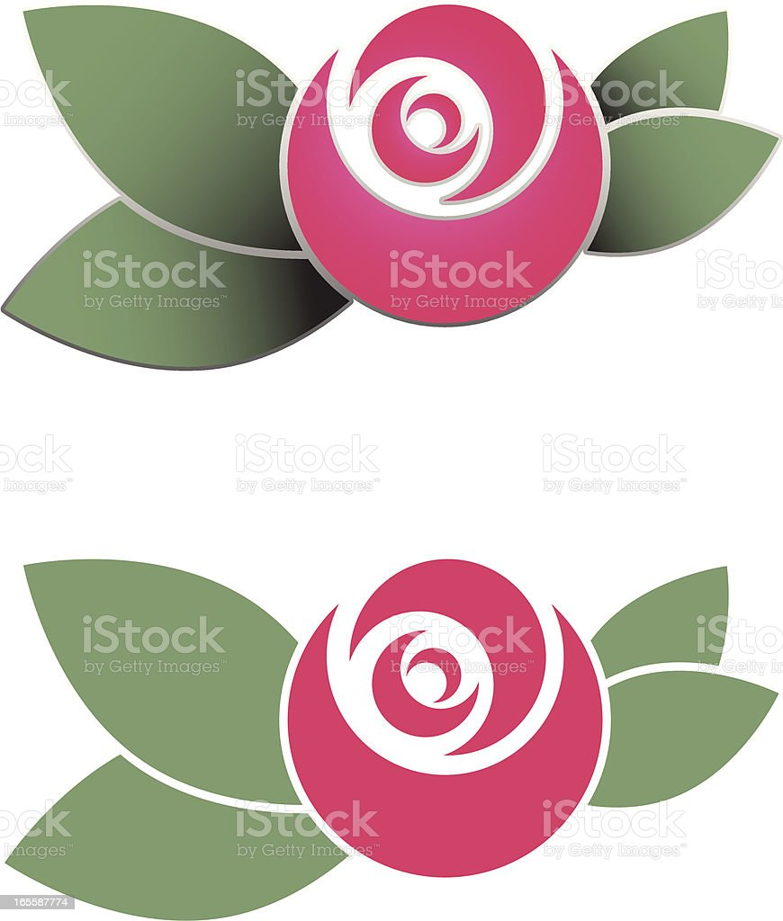 Stencil Rose Illustration vector art illustration