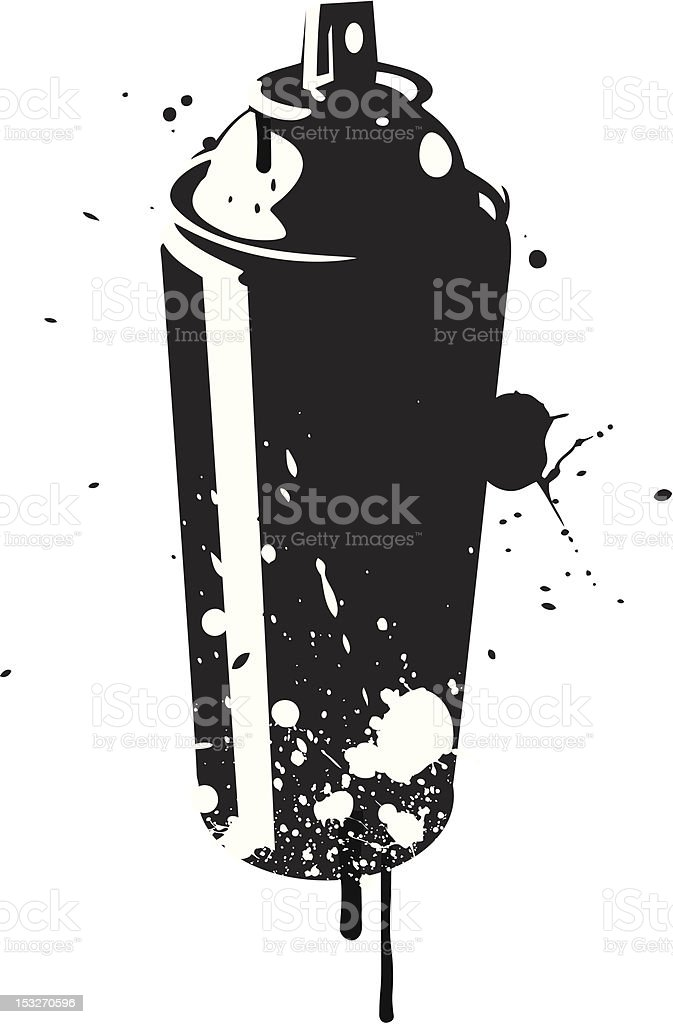 Stencil Spray Can vector art illustration