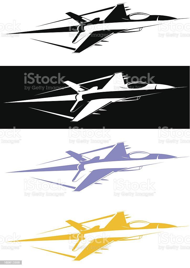F-16 stencil vector art illustration